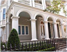 Front porch arch columns