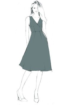 Flora Dress - PDF sewing pattern – By Hand London