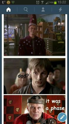 """Just what I was looking for. I about died after watching the first episode of Merlin and seeing """"Giles"""" again."""