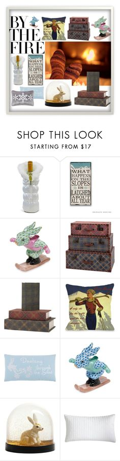 """""""Ski Bunny Holiday"""" by creation-gallery on Polyvore featuring interior, interiors, interior design, home, home decor, interior decorating, Epicurean, Herend, Rizzy Home and Pier 1 Imports"""