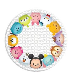 Tsum Tsum Dessert Plates 8ct