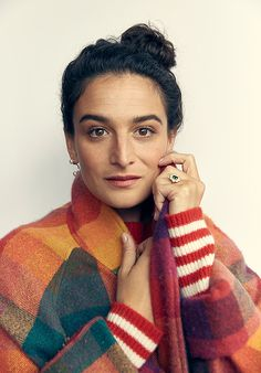 Jenny Slate On Love, Loneliness, & Giant Dogs High West Distillery, Jenny Slate, Joy And Sadness, Webby Awards, Comedy Specials, Giant Dogs, Rainbow Sweater, Iconic Women, Dressing Rooms
