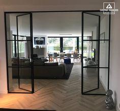 Recently installed a PVC herringbone floor from Tarkett Nederland. Home Room Design, House Design, Home Living Room, Home, House Rooms, House Interior, Home Deco, Home Interior Design, Living Room Designs