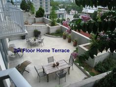 7th Floor Homes at Spire Midtown Atlanta have huge terraces!