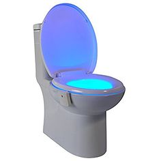 This might be a great gift for someone who battles a fear of the dark... or maybe someone who doesn't want to bother a spouse with the light... maybe it could even work for the elderly. - GlowBowl A-00452-01 Motion Activated Toilet Nightlight