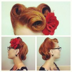 love the vintage hair style