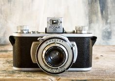 Vintage Kodak 35 Camera, Rare 35mm Kodamatic Anastigmat Lens, Camera Collector Industrial Home Decor