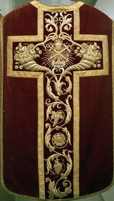 NEG021-04  Chasuble  Dutch  Produced by F. Stoltzenberg, Roermond  Date: c. 1845-1855
