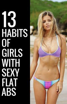 13 brilliant habit of girls with sexy flat abs