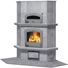 Tulikivi Fireplace with Bakeoven