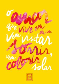 Poster by @Leo Jardim http://www.tipoessa.com/pra-voce-guardei-o-amor