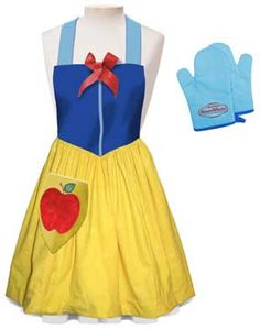 Snow White Princess Apron. Wouldn't be that hard to adapt an apron pattern and make one.