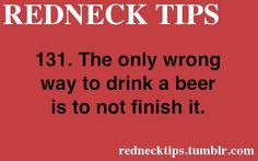 REDNECK TIPS