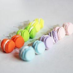 Miniature Food Pastel Macaroon Kawaii Stud Earrings