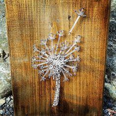 String art on wood