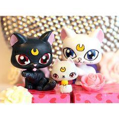 Luna Artemis und Diana von Sailor Moon von PiasLittleCustoms