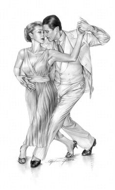 Tango - Kele & Omar by Ray Leaning Latest Tango drawing... Pencil on A2 paper Dancers: Kele Baker and Omar Ocampo ©Ray Leaning September 2012 original unframed £500 Limited Edition prints available £50 from www.leaning,co.uk