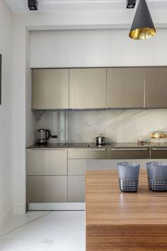 Наши проекты - кухня bulthaup b3, алюминий sand beige / Our project - kitchen bulthaup b3, aluminum sand beige