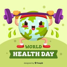 Flat world health day background Free Vector Creative Poster Design, Ads Creative, Creative Posters, International Health, World Health Day, Messy Art, Positive Inspiration, Design Inspiration, World Environment Day