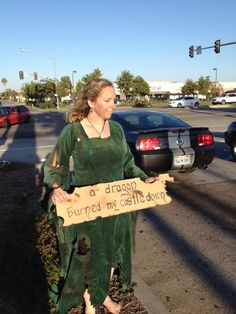 I made a medieval dress and burnt it for a GISHWHES project for 2013.