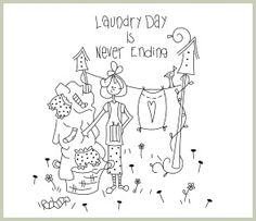 Laundry Day - Embroidery