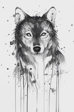 This is a nice watercolor wolf!might be getting this as my wolf tattoo since wolves are my favorite Wolf Tattoo Back, Small Wolf Tattoo, Wolf Tattoo Sleeve, Tattoo Wolf, Tattoo Art, Wolf Girl Tattoos, Swan Tattoo, Live Tattoo, Tattoo 2017