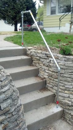 Best Outdoor Stair Railing Pipe Railing Pinterest Image 400 x 300