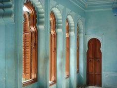 """Blue Walls, Brown Windows"", Udaipur, India"