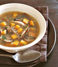 A hearty winter soup consisting of caramelized onions, wild mushrooms, carrots, and butternut squash. Make this fresh and delicious dish from scratch now, then freeze it to savor later.  Recipe: Mushroom Soup with Winter Vegetables   - CountryLiving.com