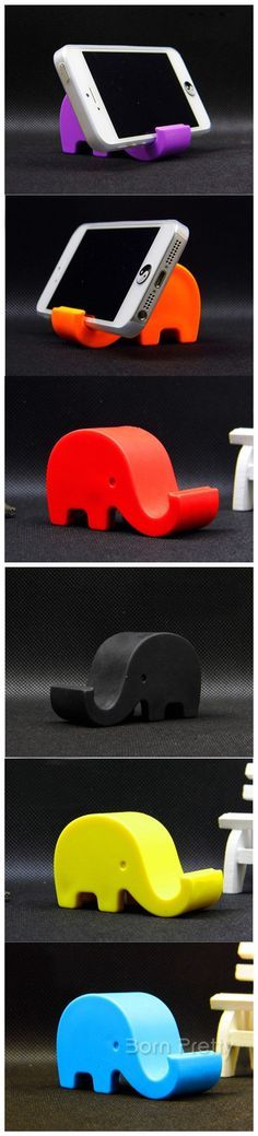 $3.66 1pc Candy Color Cute Elephant Mobile Phone Holder Plastic Cell Phones Stand Holder - BornPrettyStore.com