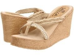 Sbicca Jewel Women's Wedge Shoes - Natural
