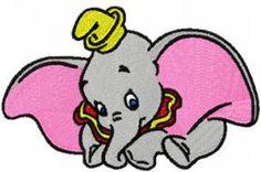 Dumbo 2 machine embroidery design. Machine embroidery design. www.embroideres.com