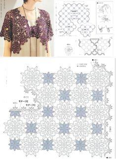Crochet Blouse, Knitting Stitches, Crochet Patterns, Style Inspiration, Lace, Women, Fashion, Crochet Coat, Flags