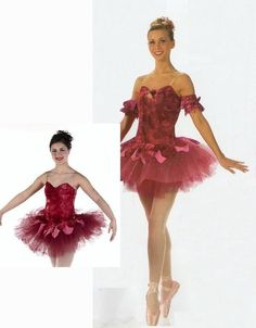 WALTZ OF THE FLOWERS Burgundy Ballet Tutu CHRISTMAS Dance Costume Adult & Child  #Cicci