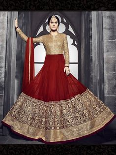 Get beautiful designer beige and maroon embroidered anarkali suit online, for further information just click o n this link http://www.zipker.com/catalog/product/view/_ignore_category/1/id/132376/s/thankar-maroon-beige-embroidered-georgette-anarkali-suit.