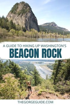 Towering Beacon Rock is a Columbia River Gorge icon, and the short-and-sweet climb to the top has sweeping views of the water and mountains all the way up. Washington state | Oregon travel | USA travel | Washington state travel Costa Rica Travel, Cuba Travel, Mexico Travel, Canada Travel, Travel Usa, Washington State Campgrounds, Beacon Rock, Travel Photos, Travel Tips