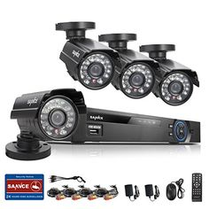 Special Offers - SANNCE 8CH 960H DVR  4 700TVL Superior Night Vision IR Cut Leds Outdoor Video Surveillance CCTV Camera System (960H/D1 HDMI/VGA/BNC Output Vandalproof/Weatherproof Metal Housing P2P Technology/E-Cloud Service Smartphone QR Code Scan Quick Access PC Easy Remote Access No HDD) (8CHBlack-2) - In stock & Free Shipping. You can save more money! Check It (April 28 2016 at 04:19PM)…