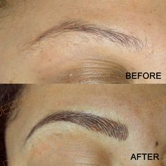 Semi-permanent hairstroke eyebrows by myself at Deeper Aesthetics Permanent Cosmetics. www.deeperaesthetics
