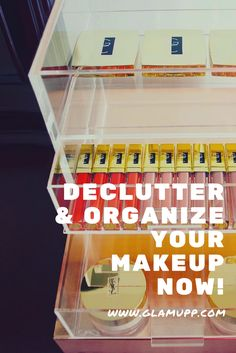 declutter and organise your make up Life Organization, Makeup Organization, Diy Vanity Table, Natural Hair Care Tips, Beauty Case, Prevent Hair Loss, Organizing Your Home, Declutter, Makeup Yourself