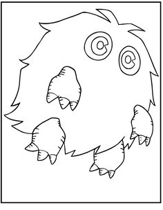 Yu-Gi-Oh Kuriboh Monster coloring picture for kids
