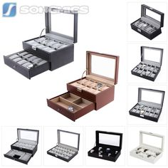 Boxes Cases and Watch Winders 173695 Glass Top Watch Display Box12