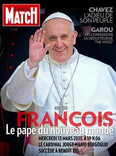 Paris Match n° 3330 du 15 mars 2013, édition iPad mise à jour (2e édition), avec le pape François en couverture. Pour l'occasion le reportage sur le conclave a été remplacé par un sujet sur le nouveau Souverain Pontife disponible exclusivement sur iPad.