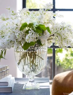 Ralph Lauren Home Marion crystal vase as featured in Veranda Magazine