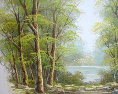 Acrylic Painting Art Original Artwork Landscape by MGOriginalArt