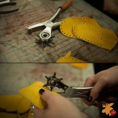 Our version of a hole punch. Hole Punch, Handmade, Hand Made, Paper Punch, Drill Press, Handarbeit