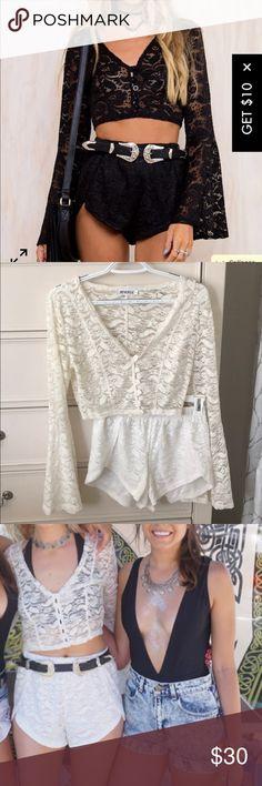 8942e7b6c214 Princess Polly Maleficent set (WHITE) Super cute two piece set I wore to  Coachella
