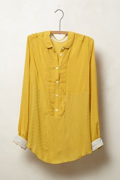 Anni Popover By Maeve - Gold- Shop Women's Clothes - Anthropologie Bluse Outfit, Anthropologie Clothing, Types Of Fashion Styles, Love Fashion, Ideias Fashion, Tunic Tops, Clothes For Women, Women's Clothes, Style Inspiration