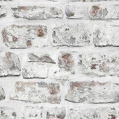 NEW Alam 18201 WHITE BRICK WALL STONE EFFECT WALLPAPER