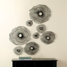 FLOATING FLOWERS WALL ART