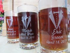 Personalized Wedding Beer Stein Beer Glass by weddingpartygifts